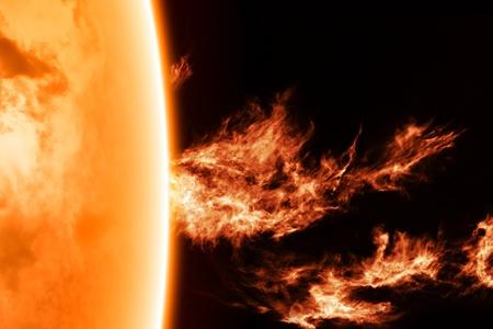 radiacion solar: Fondo de ciencia - actividad solar en el espacio