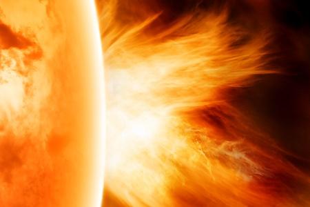 radiacion solar: Fondo de ciencia - explosi�n solar en el espacio