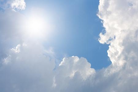 Peaceful sky, bright sun, light from sky photo