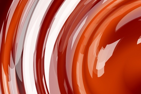 Abstract red round waves of molten liquid chocolate Фото со стока