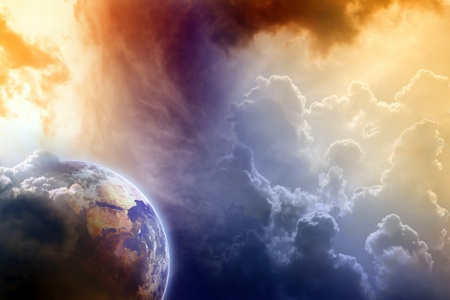 Armageddon, dramatic dark background - planet Earth disaster Stock Photo - 9287468