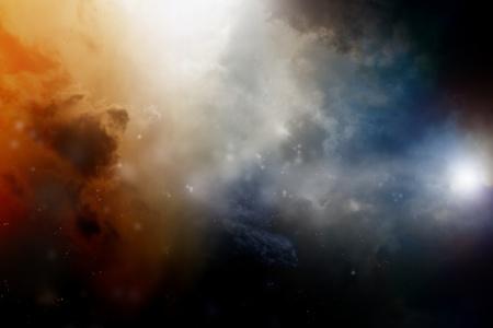 Dramatische achtergrond - donkere hemel, helder licht Stockfoto