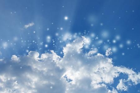Heaven - blue sky, bright sunlight, white clouds Stock Photo - 11563797