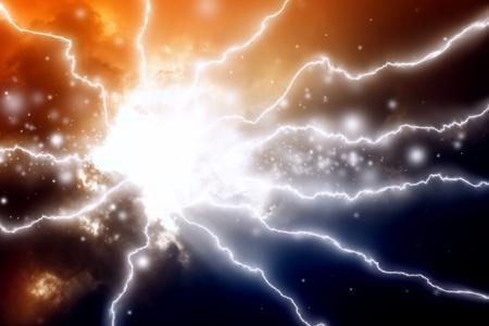 moody sky: Misterioso fondo - lampi nel cielo buio Archivio Fotografico