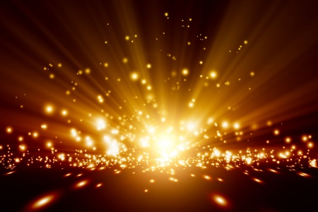 light beams: Abstract background - bright orange lights