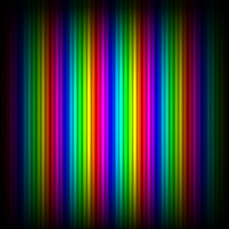 vignetting: Abstract background - vertical spectrum lines, black round vignetting