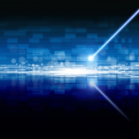 Abstract techologycal backgrond - laser beam, information on optical disk