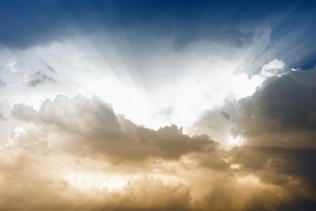 Peaceful background - bright sun in sky Stock Photo - 13609849