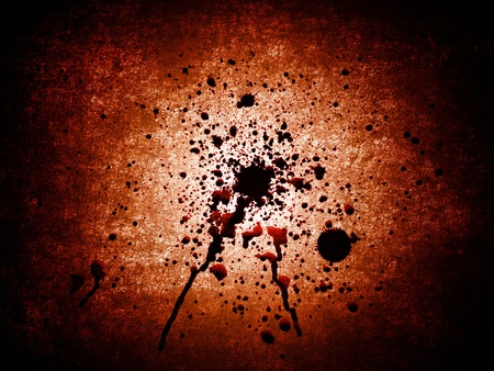 spatter: Abstract crime background - blots of blood  Stock Photo
