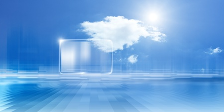 internet cloud: Technology background, cloud computing, augmented reality, abstract smartphone, multimedia gadget