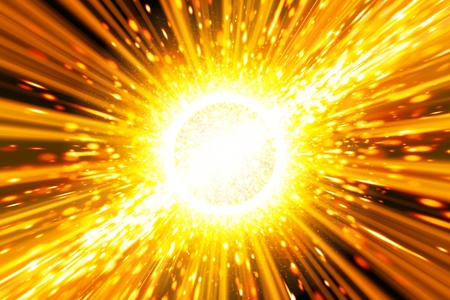 big bang theory: Abstract scientific background - big exploding in space, big bang theory