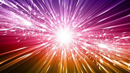 Abstract viering achtergrond - heldere kleurrijke lichten, flash, verlichting Stockfoto