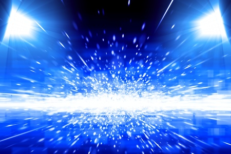Abstract background - bright blue spotlights