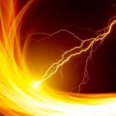 blitz symbol: Dangerous Hintergrund - brennende Flamme und Blitze
