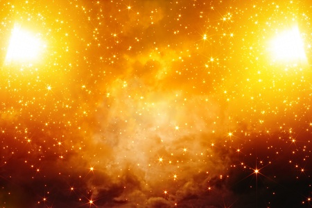 Abstract fantastic background - bright stars in red sky Stock Photo - 16450198