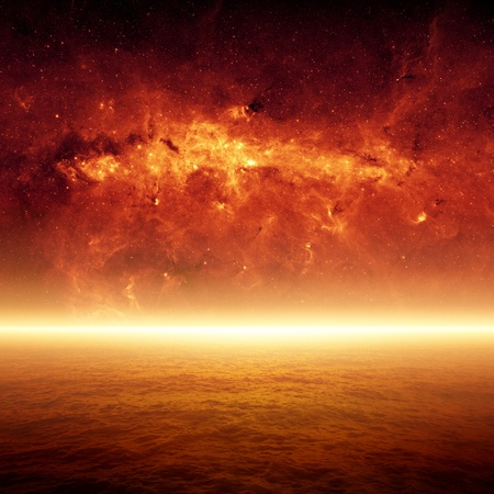 apocalyptic: Dramatic apocalyptic background, end of world, red sunset, armageddon, hell. Elements of this image furnished by NASAJPL-Caltech.