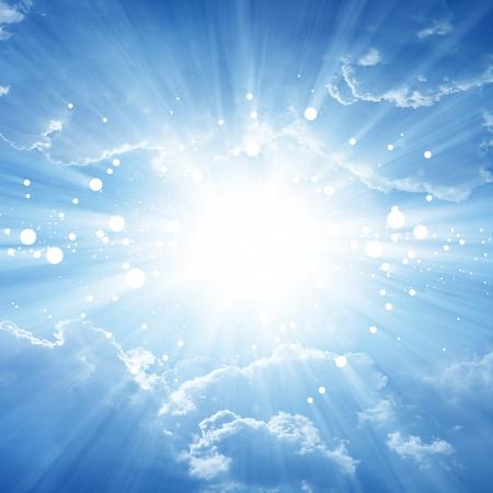 heaven: Peaceful fondo - hermoso cielo azul con sol brillante cielo,