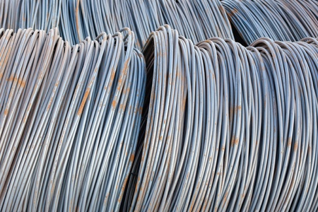 steel wire: Indusrtial technology background - bunch of steel wire