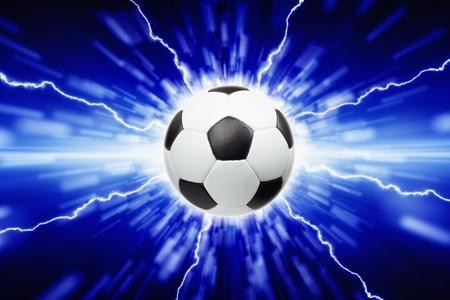 Abstrakt Sport-Hintergrund - Fußball, helle Lichter und Blitze Standard-Bild - 21075629