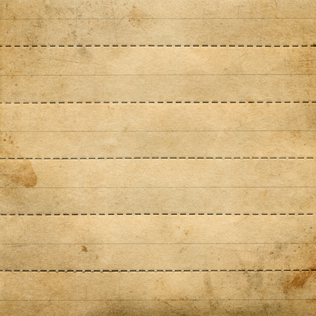 dividing: Old brown textured paper with cutting, dividing dotted lines