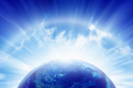 抽象的な地球の明るい輝く背景 写真素材