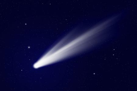 comet: Scientific background - comet in deep space, stars in space