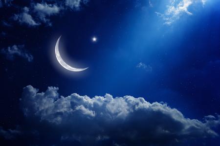 달과 별 배경 스톡 콘텐츠