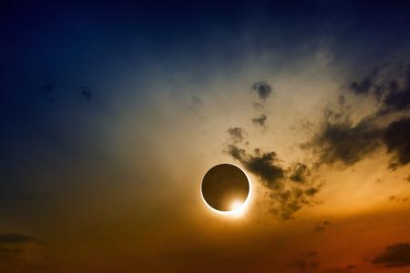solar eclipse: Scientific background, astronomical phenomenon - full sun eclipse, total solar eclipse