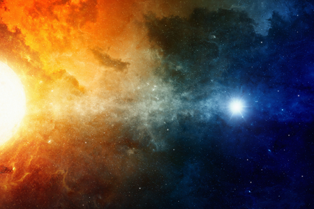 universe: Scientific background, big red star, nebula in deep space, glowing mysterious universe. Elements of this image furnished by NASA nasa.gov