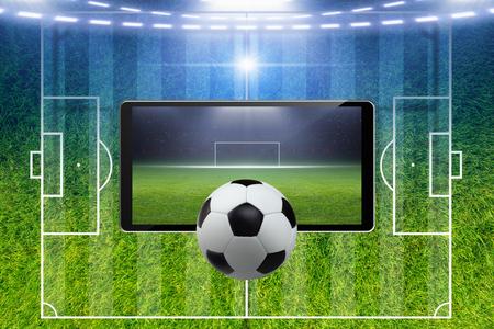 Abstract soccer background - soccer ball, soccer stadium, sports game online, soccer online, online game