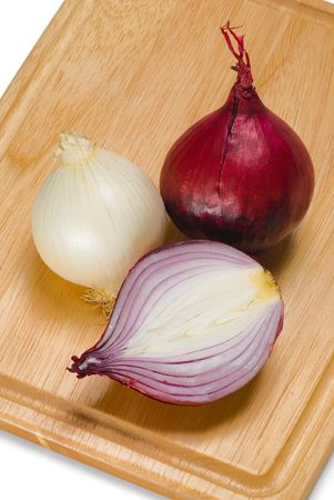 Half of red onion, the whole white and red ones Stock Photo - 2727785