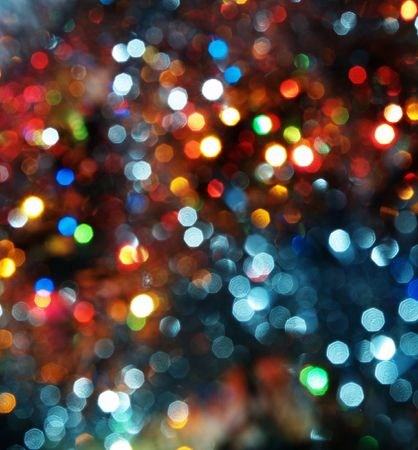 blured background with colourful bright decoration lights