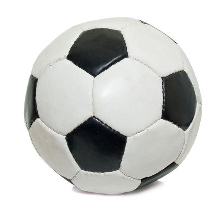 soccer ball isolated over white background. used photo