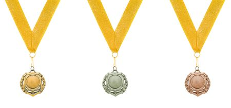 threee medals isolated over white Stock Photo - 2466671