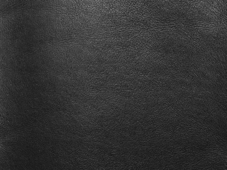 black leather: abstract natural black leather background close-up Stock Photo