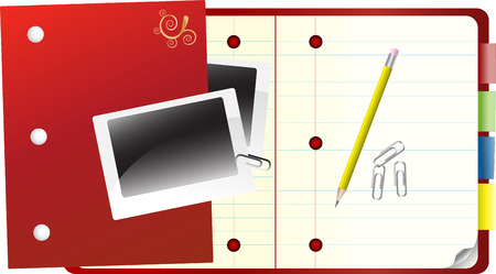 paper notebook, pen and other office stuff Stock Vector - 4442124