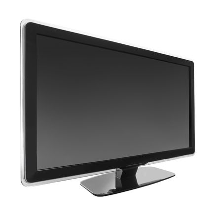 lcd display: 46inch wide screen tv display isolated on white