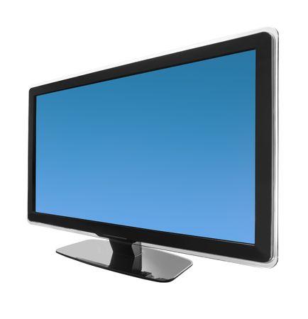 HD-Breitbild-TV-Bildschirm isoliert auf wei�em