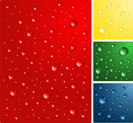 bacground: water drops on color bacground vector illustration