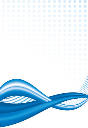 vector abstract background with blue waves Stock Vector - 4680072