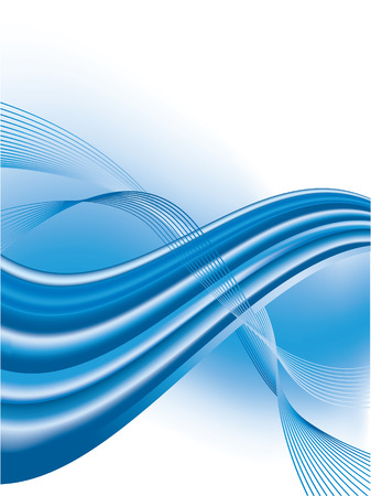 vector abstract background with blue waves