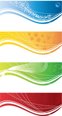 bacground: abstract bacground ornament vector cards color set Illustration