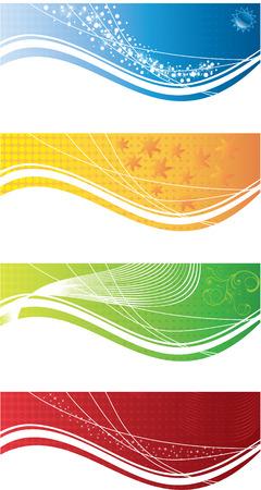 Zusammenfassung bacground ornament Vektor-Karten Farbsatz