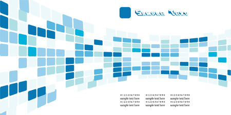 vector abstract technology background with blue squares wave