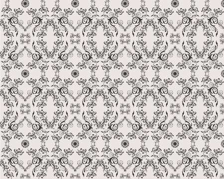 seamless vector floral ornamet damask pattern Stock Vector - 4771447