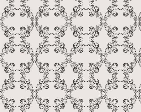 seamless vector floral ornamet damask pattern Stock Vector - 4771448