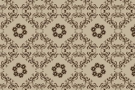 seamless vector abstract floral ornament