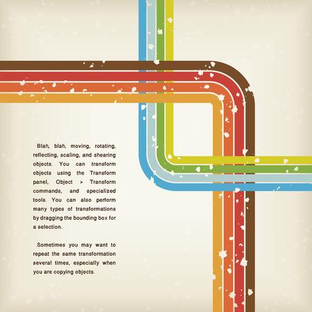 retro abstract grunge braunen Hintergrund mit Linien-Vektor