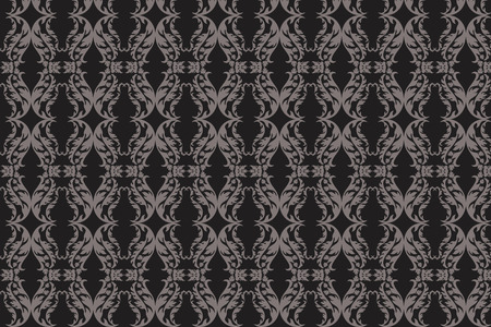 damask floral abstract pattern seamless background vector Stock Vector - 4839588