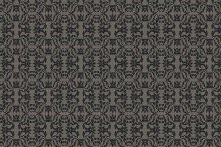 damask floral abstract pattern seamless background vector Stock Vector - 4839590